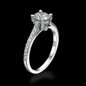 2.16 CT Beauty Round Enhanced Diamond Engagement Ring 950 Platinum DSI