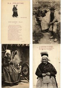 SPINNING WHEELS FRANCE FRENCH FOLKLORE 13 Vintage Postcards