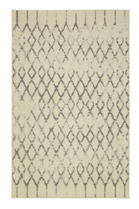 Mohawk Ivory Contemporary Diamonds Crosshatch Area Rug Geometric 90871 83023