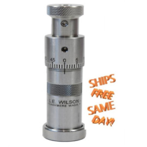 L.E. Wilson SS Seating Die with Micrometer Adjustment for 6mm XC NEW! # S6M-XC