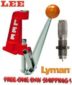 Lee Reloader Single Stage Press + Lyman Depriming & Decapping Die .22 - .45 Cali