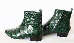 Auth Louis Vuitton Emerald Green 40 Crocodile Leather Boots BNIB RRP $22000