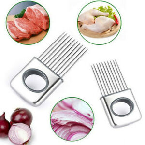 Onion Holder Slicer Vegetable tools Tomato Cutter Kitchen Gadget Stainless Steel