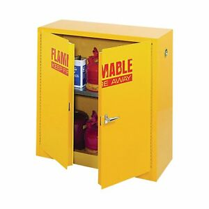 Sandusky Lee Compact Flammable Safety Cabinet-43inW x 18inD x 44inH #SC300F