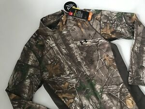 UNDER ARMOUR ColdGear Armour HUNTING Realtree CAMO Mock SHIRT Mens LARGE $75 NEW