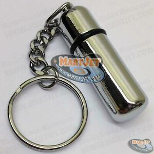 Stainless Steel Premium Cigar Punch Metal Cutter Chrome Bullet Style Key Chain