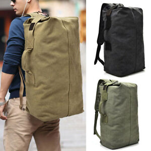 Men's Sports Travel Bag Backpack Rucksack Canvas Bag Outdoor Bucket Daypack Pack
