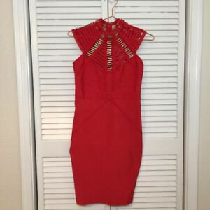 Wow Couture Bandage Red Dress Cocktail Bandage Bodycon Size S