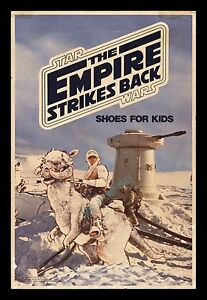 STAR WARS ☆ The Empire Strikes Back ☆ CLARKS SHOES ☆ MOVIE POSTER STORE DISPLAY
