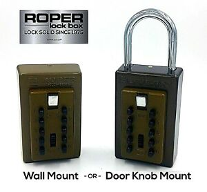 Push Button Lock Box - Wall Mount or Door Knob - High Quality Secure Durable