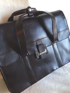Cutterbuck leather briefcase set includes card holder and portfolio book