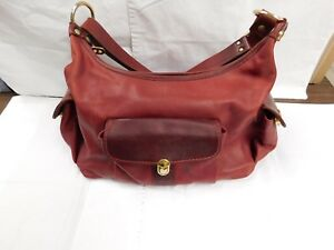 Marino Orlandi Red Leather Handbag Purse Genuine Leather Soft Made In Italy