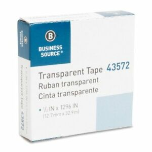 Business Source All-purpose Glossy Transparent Tape - 0.50