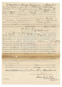 Isaac Israel Hayes Signs A Discharge For A Civil War Surgeon