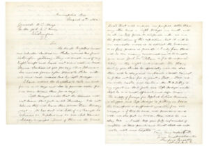 Rufus Ingals Letter Discussing Preparations For The Peninsula Campaign