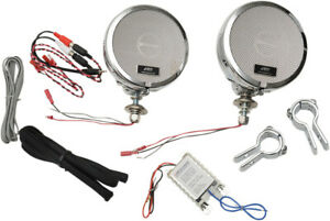 MH Motorcycle Rumble Road Ultra Amplified Stereo Chrome System For 1