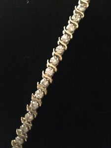 Ladies 14kt Yellow Gold Diamond Tennis Bracelet 3.5 carats tcw