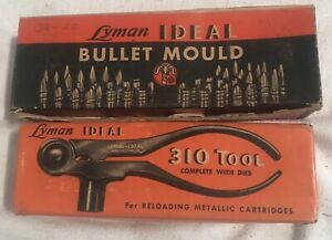 LYMAN IDEAL 310 TOOL WITH 32-20 DIES & 32-20 BULLET MOULD & HANDLE
