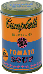 Andy Warhol Soup Can Crayons New Orange $11.40