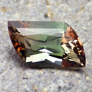GREEN-ORANGE-PINK MULTICOLOR OREGON SUNSTONE 4.17Ct FLAWLESS-VERY RARE COLOR!