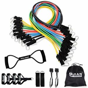 Resistance Bands Set with Exercise Tube Bands Door Anchor Ankle Straps