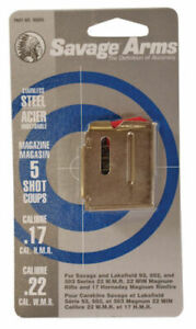 Savage 93 Series .22 WMR.17 HMROthers 5 Round Stainless Steel Magazine 90009