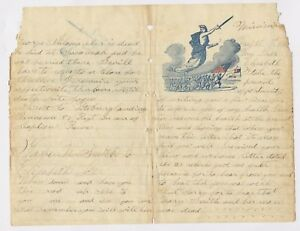 Collection of 116 Civil War Union Soldier Letters 1862 Historical Love Story