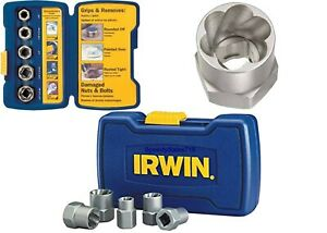 IRWIN Bolt Grip 5 Piece Extractor Base Set Tool Kit To Remove Rounded Bolts New