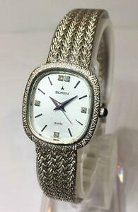 Battery Replaced Swiss Made Buren Ladies Watch Rhinestone