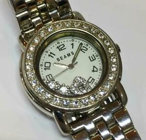Battery Replaced Beams Ladies Watch Rhinestone Change Band Bezel Included