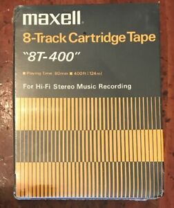 Maxell 8T-400 8-Track Cartridge Tape Blanks For Music Recording Qty:10