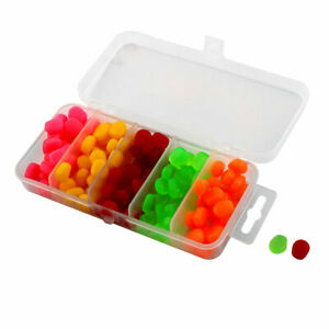 Soft Silicone Corn Shaped Fishing Baits Lures w Case Assorted Color 120 Pcs