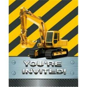 Creative Converting 895590 Construction Birthday Zone - Invitation Foil - Cas...