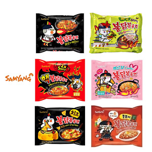 SAMYANG Hot and Spicy Chicken Noodles Various types of ramen Set (5pcs) Mukbang