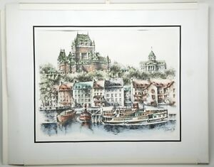 Three Original Drawings quot;Quebec Landscapesquot; 11x14quot; Signed By Artist. Paper Frame $99.99