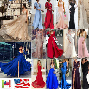 New Women Formal Bridesmaid Evening Party Prom Ball Gown Cocktail Maxi Dress Lot