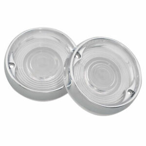 Clear Flat Lens Turn Light Cover&Trim Ring For Harley Touring Electra Road Glide