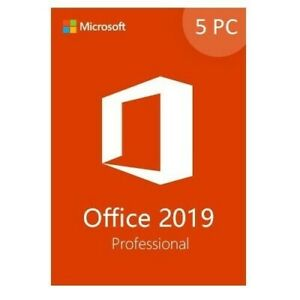 Microsoft Office 2019 Professional  Retail Sealed  5-PC