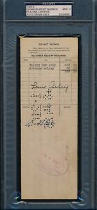 Lou Gehrig 1925 Rookie Signed Payroll Check AUTO PSADNA 9  VERY RARE!!
