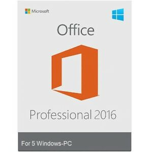 Microsoft Office 2016 Professional  Retail Sealed  5-PC