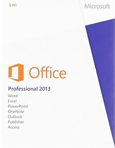 Microsoft Office 2013 Professional  Retail Sealed  5-PC
