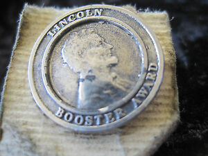 Lincoln Booster Award Tie Tack High School? Abraham Silver Tone Vintage $10.19