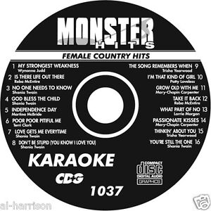 KARAOKE MONSTER HITS CD+G FEMALE COUNTRY HITS  #1037
