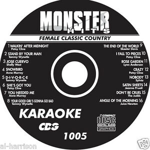 KARAOKE MONSTER HITS CD+G FEMALE CLASSIC COUNTRY  #1005