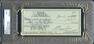 JAN 1968 BRUCE LEE FIRST WESTERN BANK AUTO SIGNED PERSONAL CHECK PSADNA RARE!