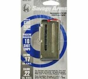 Factory Savage 93 Series Magazine 22 Magnum 17 HMR 10 Round Magazine Stainless