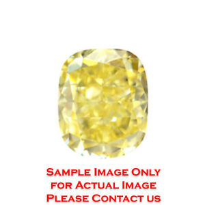 14.46ct Natural Cushion Loose Diamond GIA Fancy Intense YellowVS2 (2175801552)