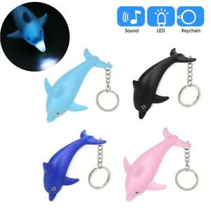 Cute Cartoon Dolphin Keychain With LED Light And Sound Keyfob Kids Toy  Action F