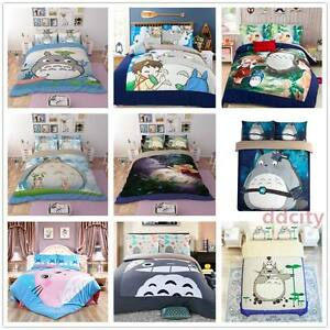 3D Bedding Set Anime Cat Duvet Cover Set Flat/Fitted Sheet Bed Line Pillowcase