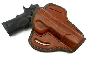 Right Hand OWB Open Top Belt Holster in Brown Leather for COONAN CLASSIC 357 5